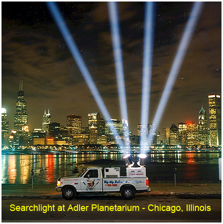 Searchlight at Adler Planetarium, Chicago, Illinois