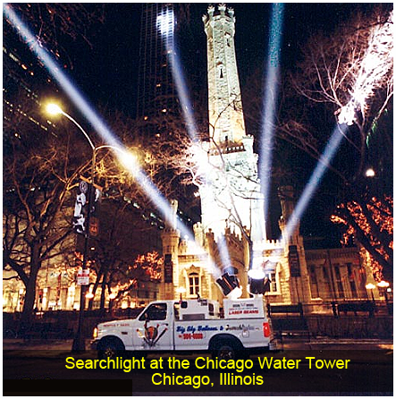 Searchlight at the Chicago Water Tower, Chicago, IL