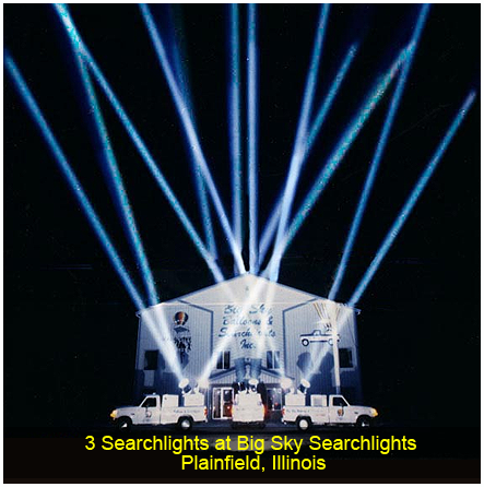 Searchlight at Residential Halloween Party, Naperville, IL