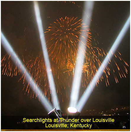 Searchlights at Thunder over Louisville, Louisville, Kentucky